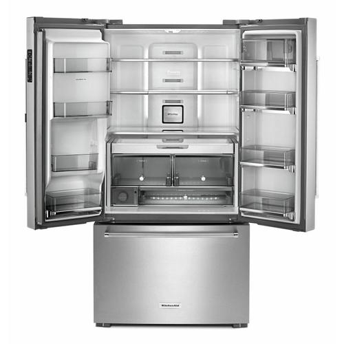 """KitchenAid Canada - 23.8 cu. ft. 36"""" Counter-Depth French Door Refrigerator - Stainless Steel"""
