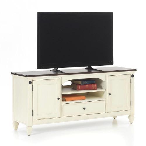 "Glennwood 64"" TV Console  White & Charcoal"