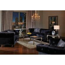 Reventlow Formal Black Sofa