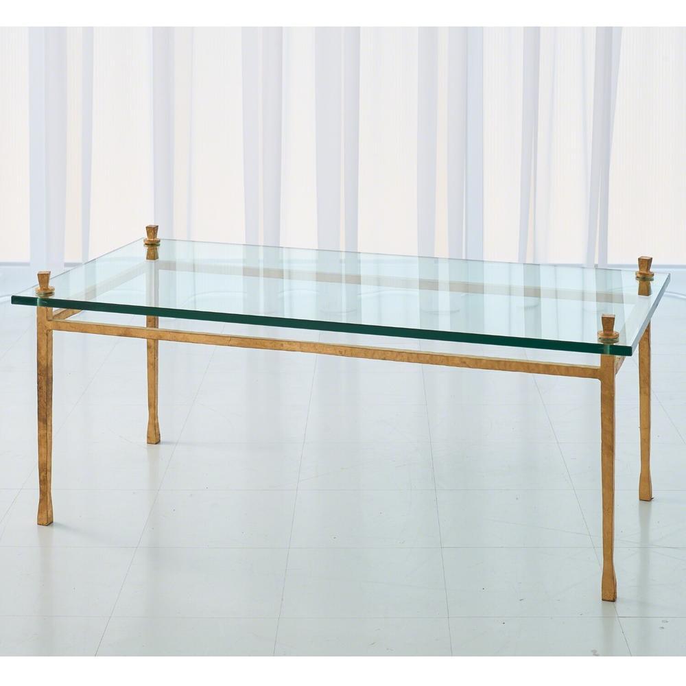 See Details - Quad Pod Cocktail Table-Gold Leaf