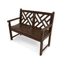 """Mahogany Chippendale 48"""" Bench"""