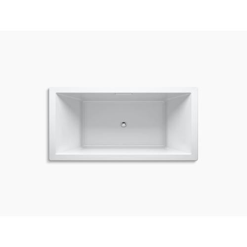"Black Black 72"" X 36"" Drop-in Bath With Center Drain"