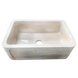 "Chardonnay Single Bowl Marble Farmer Sink - 33"" Product Image"