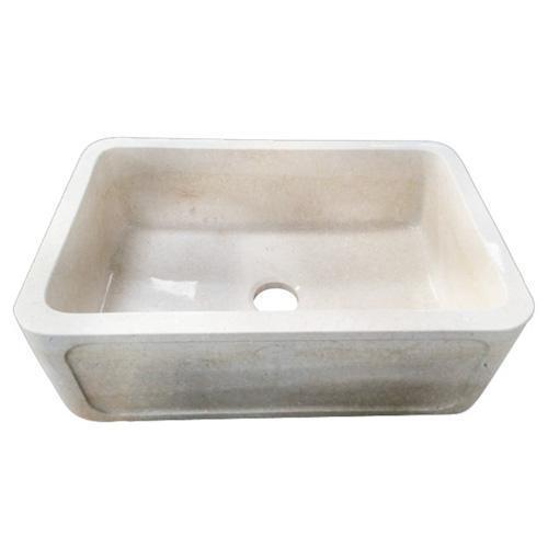 """Chardonnay Single Bowl Marble Farmer Sink - 30"""""""