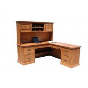 "O-T641-D Traditional Oak 72"" Desk and Return"