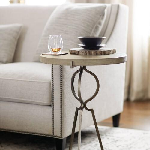 Bernhardt - Rustic Patina Accent Table in Sand (387)