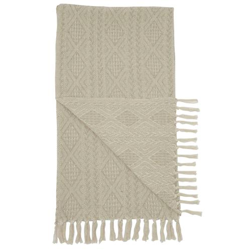 Throw St142 Natural 50 X 60 Throw Blanket
