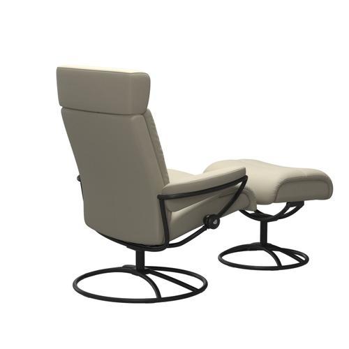 Stressless By Ekornes - Stressless® Tokyo Original Adjustable headrest Chair with Ottoman