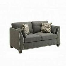 ACME Laurissa Loveseat w/4 Pillows - 52406 - Light Charcoal Linen