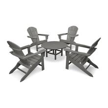 Slate Grey South Beach 5-Piece Conversation Group
