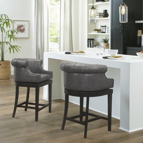 Hillsdale Furniture - Broadland Wood Memory Return Swivel Counter Height Stool, Black