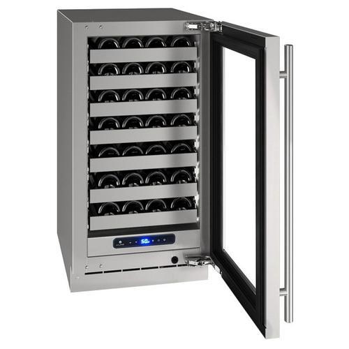 "U-Line - Hwc518 18"" Wine Refrigerator With Stainless Frame Finish and Left-hand Hinge Door Swing (115 V/60 Hz Volts /60 Hz Hz)"