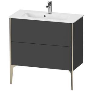 Vanity Unit Floorstanding Compact, Graphite Matte (decor)