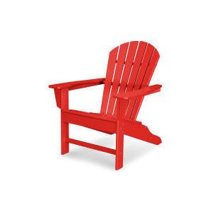Polywood Furnishings - South Beach Adirondack in Sunset Red