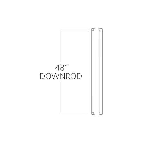 "48"" Downrod - Dark Weathered Zinc"