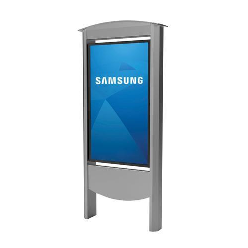 Outdoor Smart City Kiosk Designed for Samsung OHF Displays - 55 / black