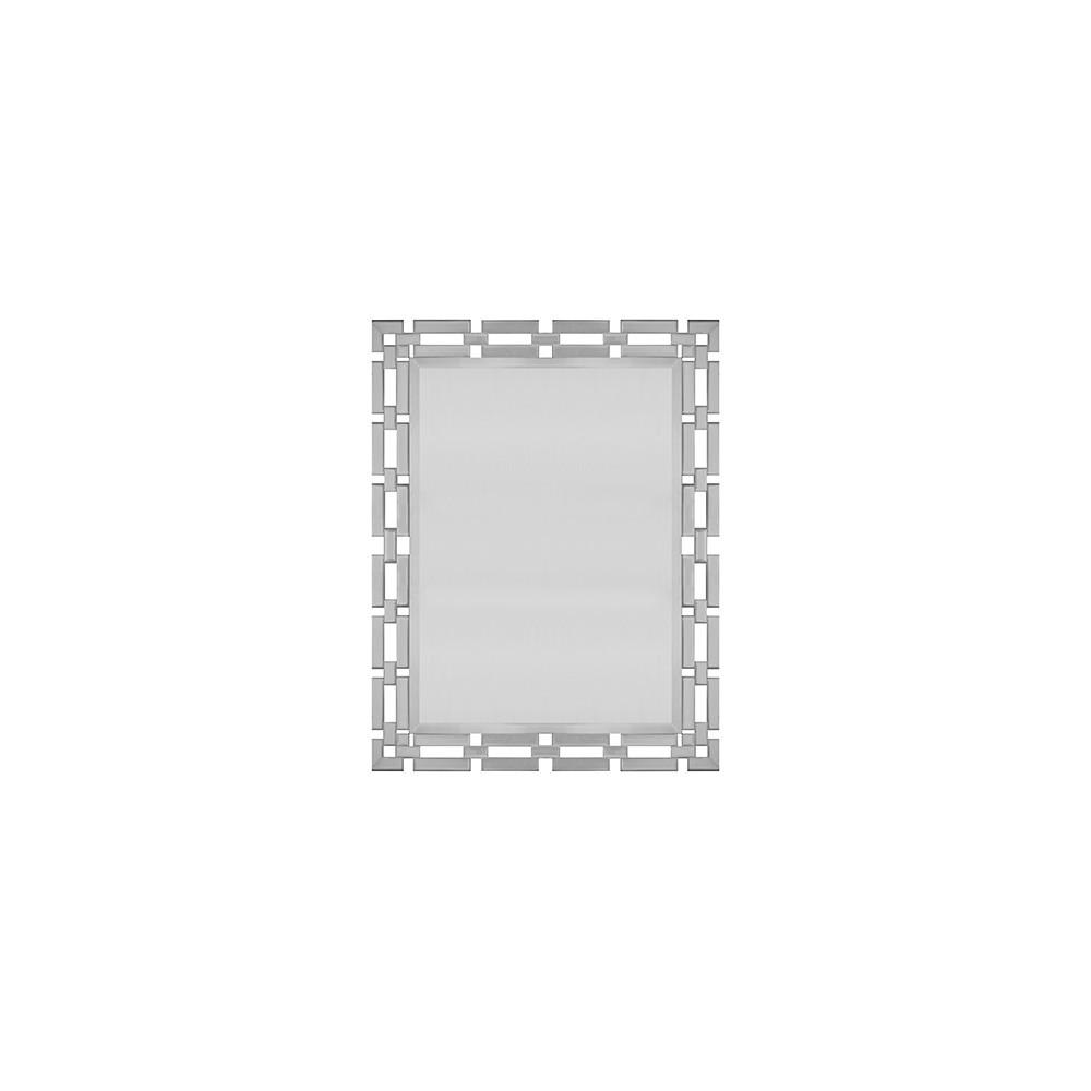 Link After Link of Super Size Mirrored Chain Weaves A Stylish Frame Around Our Rectangular Dawson Mirror.