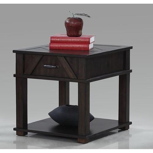 Rectangular End Table - Dark Pine Finish