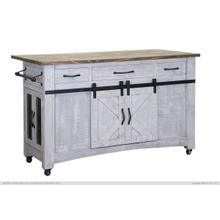 See Details - Kitchen Island, 3 Drawers 6 Doors