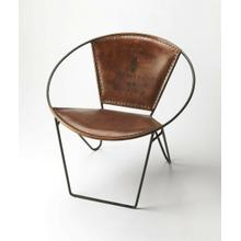 This verstile chair with its graceful curves, butterfly hind legs and the hand crafted artistry of forged wrought iron, combines with the rugged natural beauty of top stitched leather seat and back. This modern chair is perfect in any modern or transitional decor.