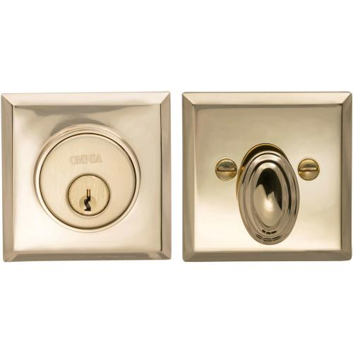 Rectangular Auxiliary Deadbolt Kit in (US3 Polished Brass, Lacquered)