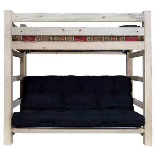 Homestead Collection Twin Bunk Bed over Full Futon