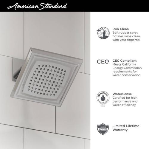 American Standard - Town Square S Shower Head - 1.8 GPM  American Standard - Polished Nickel