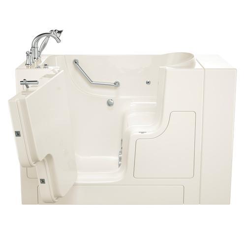 Gelcoat Value Series 30x52-inch Outward Opening Door Walk-In Bathtub with Whirlpool Massage System  American Standard - Linen