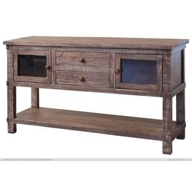 Sofa Table w/2 drawers, 2 glass doors