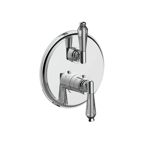"7095hc-tm - 1/2"" Thermostatic Trim With Volume Control in Standard Pewter"