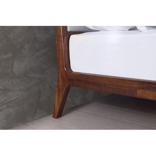 Greenington Fine Bamboo Furniture - Mercury Upholstered Eastern King Platform Bed, Exotic