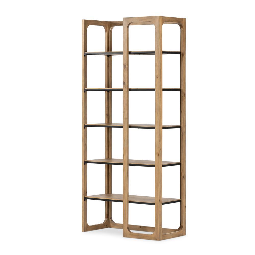 Nikola Bookcase-smoked Pine