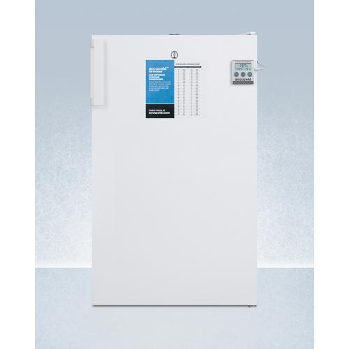 """20"""" Wide All-freezer for Freestanding Use, Manual Defrost With A Lock and Nist Calibrated Thermometer"""
