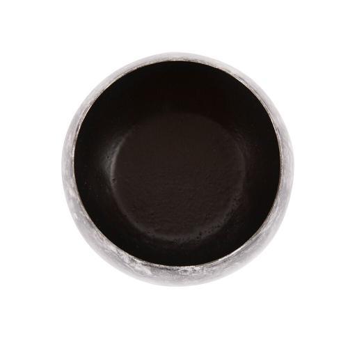 Howard Elliott - Black Marbled Iron Candle Holder, Small