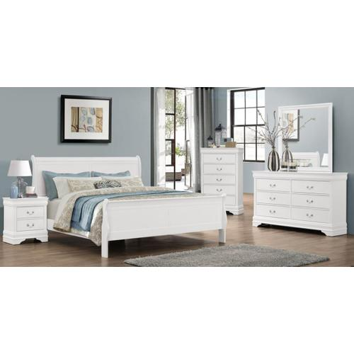Bianco White LP Twin Bed