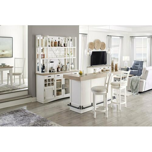 Parker House - AMERICANA MODERN DINING Bar Complete 78 in. with quartz