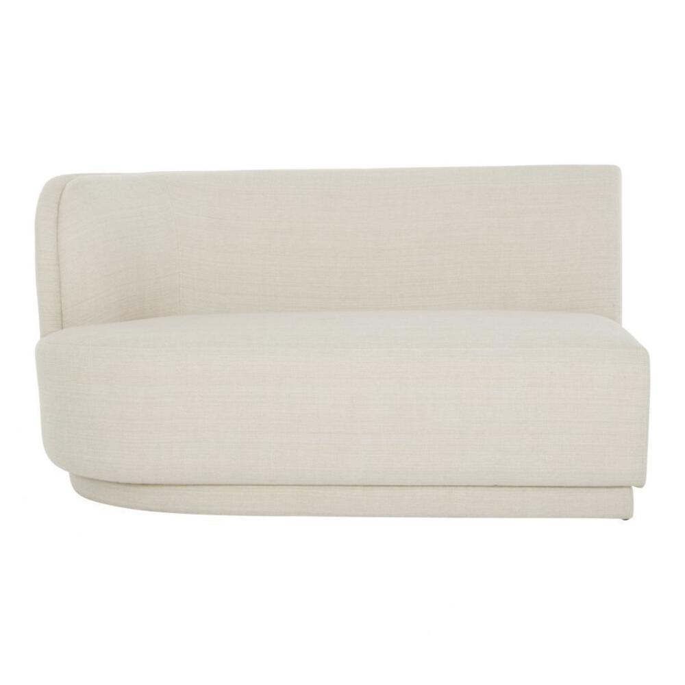 See Details - Yoon 2 Seat Sofa Left Cream
