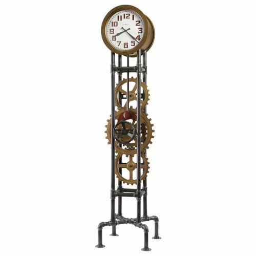 Howard Miller Cogwheel Metal Floor Clock 615118