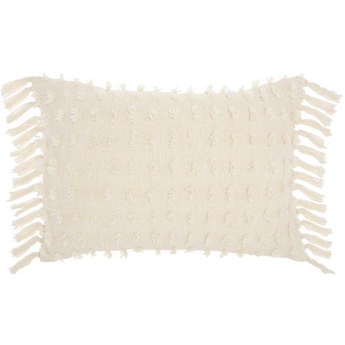 "Life Styles Gt037 Cream 14"" X 20"" Throw Pillow"