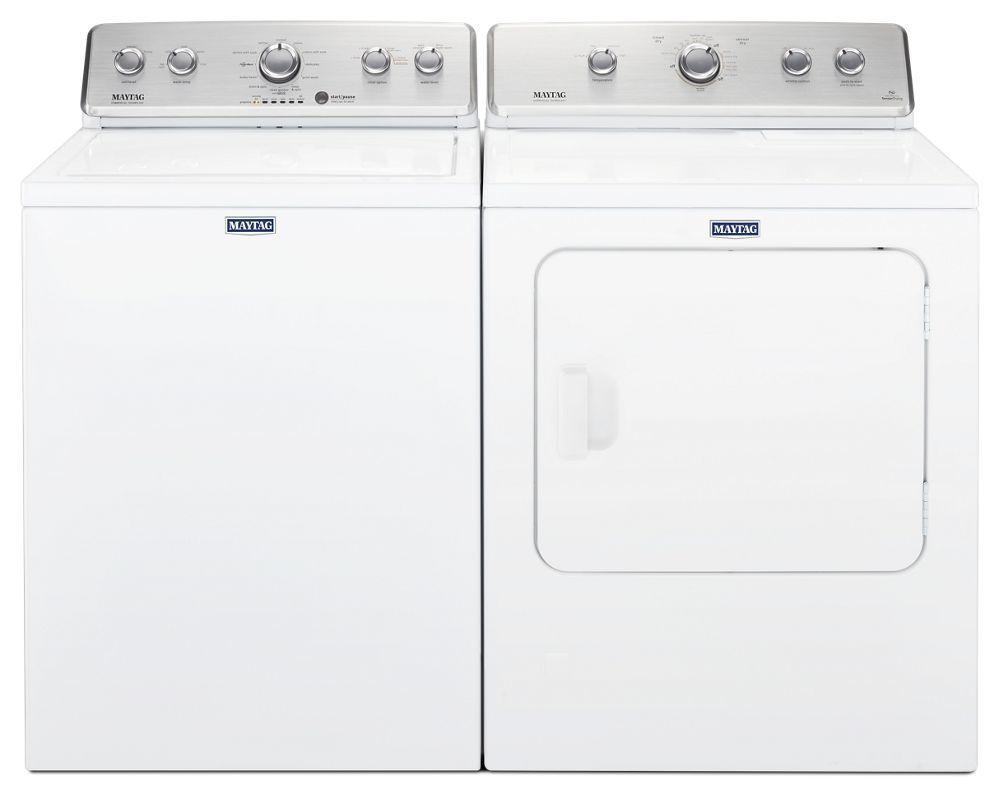 Maytag 3.8 cu ft High-Efficiency White Top Load Washing Machine with Deep Fill Option