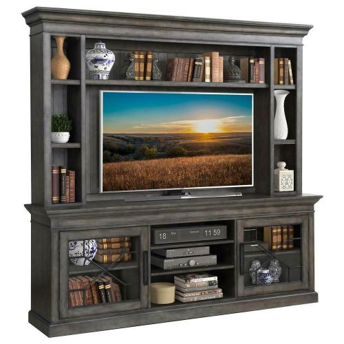 SUNDANCE - SMOKEY GREY 92 in. Console with Hutch & Backpanel