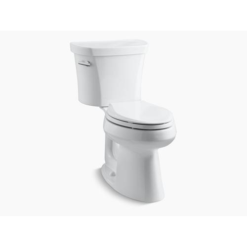 """Kohler - Black Black Two-piece Elongated 1.28 Gpf Chair Height Toilet With Insulated Tank and 14"""" Rough-in"""