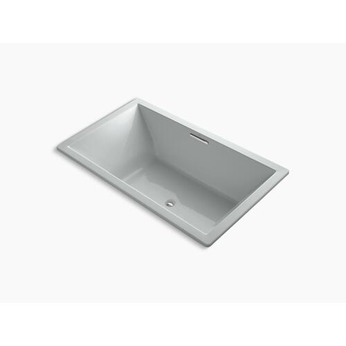 "Ice Grey 72"" X 42"" Drop-in Vibracoustic Bath With Bask Heated Surface and Center Drain"