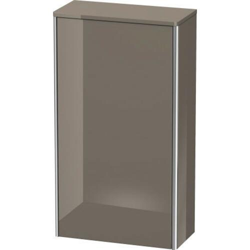 Semi-tall Cabinet, Flannel Gray High Gloss (lacquer)