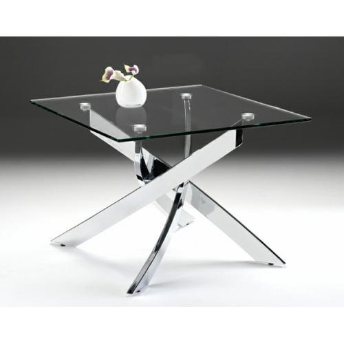 VIG Furniture - Modrest Pyrite Modern Glass End Table
