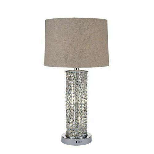 ACME Britt Table Lamp - 40121 - Chrome