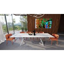 View Product - Modrest Farrell - Modern White Ceramic Extendable Dining Table