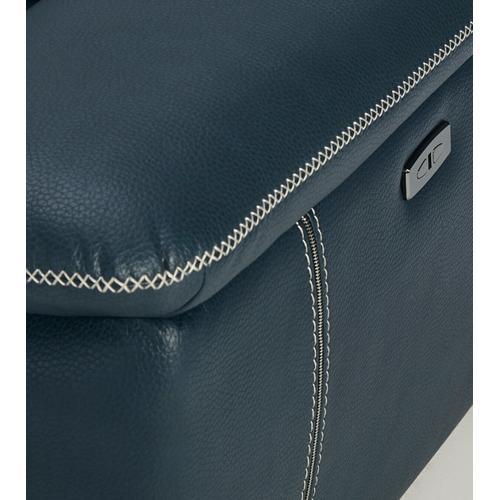 VIG Furniture - Divani Casa Melstone Modern Blue Leatherette Sofa Set w/ Electric Recliners
