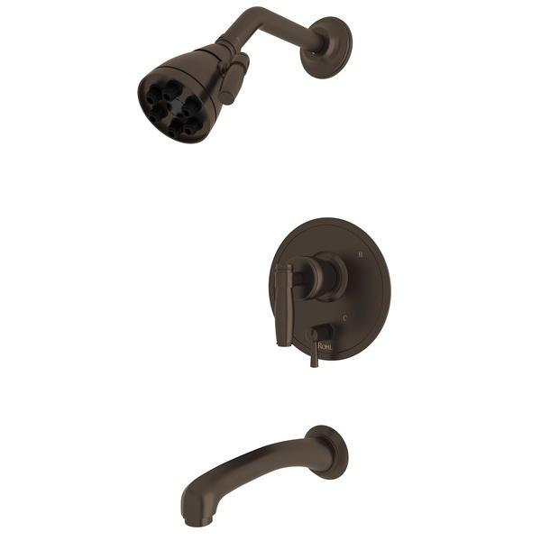 Tuscan Brass Zephyr Pressure Balance Shower Package with Metal Lever Zephyr Series Only