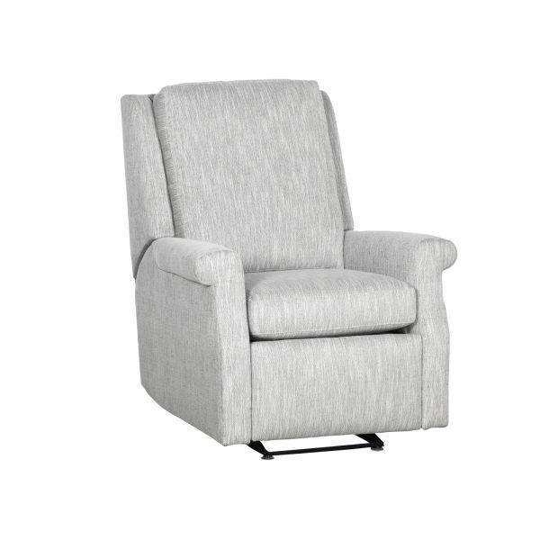 Reclination Greek Key Manual Push Back Glider Recliner